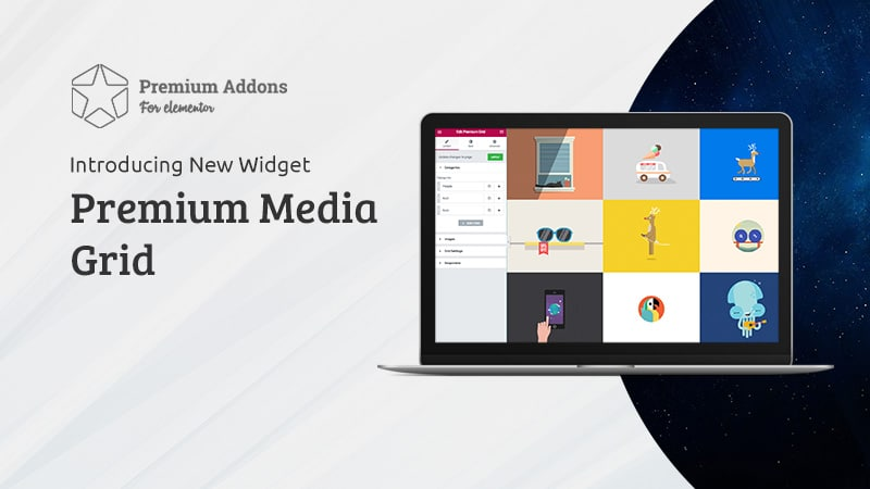 New Elementor Widget: Premium Media Grid