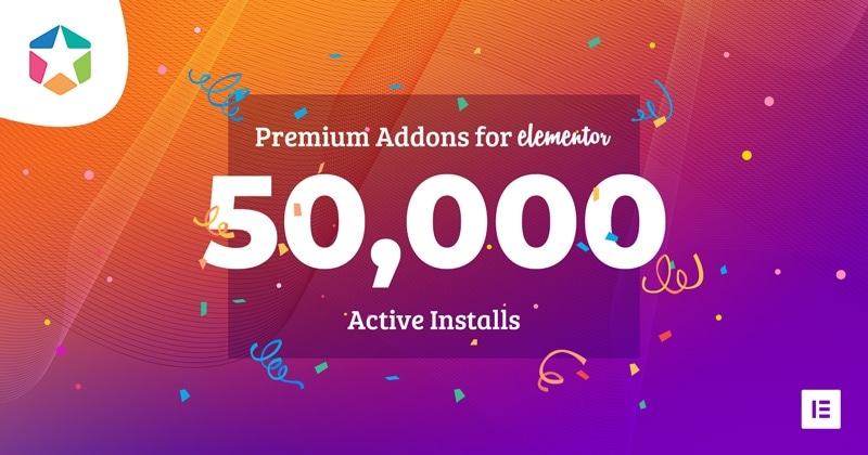 Premium Addons is Now Installed on 50,000 Websites